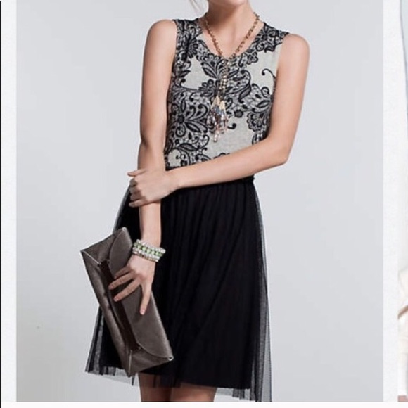 74209449a7f06 Anthropologie Dresses & Skirts - Anthropologie Weston Wear Lace & Tulle  Gray Dress